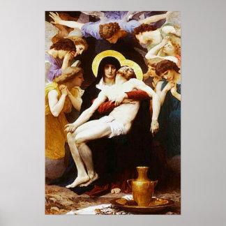 Pieta-Jesus-Kreuzigungs-Wehklage-Jungfrau Mary 02 Poster