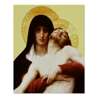 Pieta-Jesus-Kreuzigungs-Wehklage-Jungfrau Mary 03 Poster
