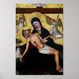 Pieta-Jesus-Kreuzigungs-Wehklage-Jungfrau Mary 04 Poster