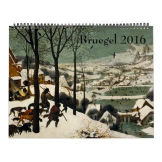 Pieter Bruegel ältere enorme 2016 Abreißkalender