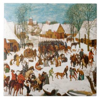 Pieter Bruegel das Ältest-Massaker der Unschuldige Große Quadratische Fliese