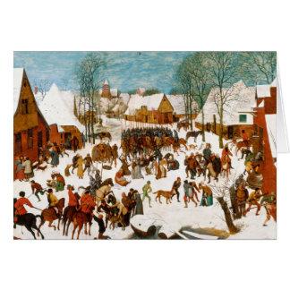 Pieter Bruegel das Ältest-Massaker der Unschuldige Grußkarte