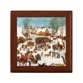 Pieter Bruegel das Ältest-Massaker der Unschuldige Kleine Quadratische Schatulle