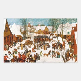 Pieter Bruegel das Ältest-Massaker der Unschuldige Rechteckiger Aufkleber
