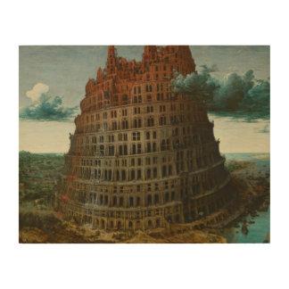 Pieter Bruegel das Älteste - der Turm von Babel Holzdruck