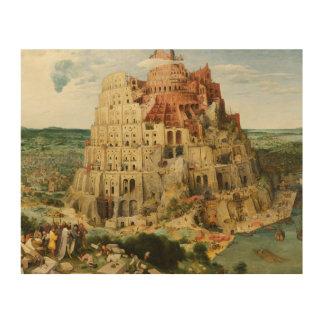 Pieter Bruegel das Älteste - der Turm von Babel Holzleinwand