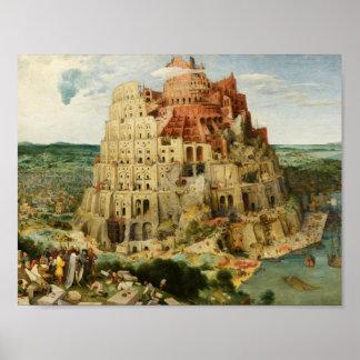 Pieter Bruegel das Älteste - der Turm von Babel Poster