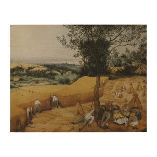 Pieter Bruegel das Älteste - die Erntemaschinen Holzdruck