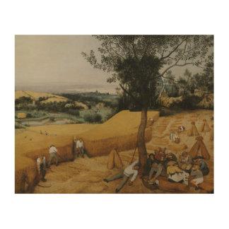 Pieter Bruegel das Älteste - die Erntemaschinen Holzwanddeko