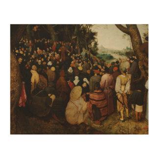 Pieter Bruegel das Älteste - die Predigt von Holzdruck