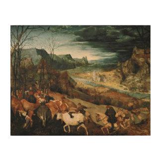 Pieter Bruegel das Älteste - die Rückkehr der Holzwanddeko