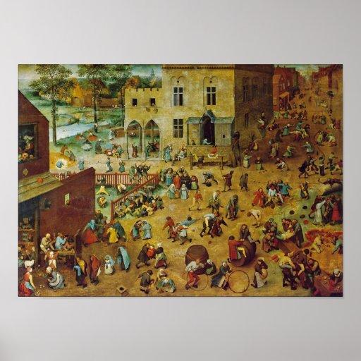 Pieter Bruegel das Älteste - die Spiele der Kinder Posterdruck