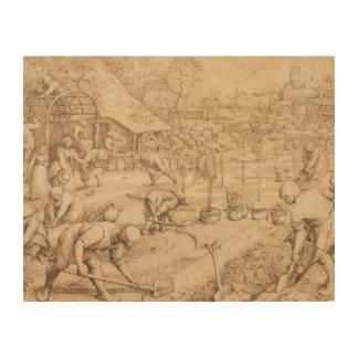 Pieter Bruegel das Älteste - Frühling Holzdruck