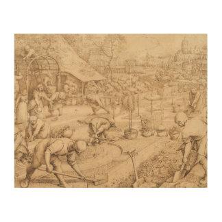 Pieter Bruegel das Älteste - Frühling Holzleinwand