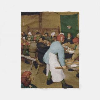 Pieter Bruegel das Älteste - ländliche Hochzeit Fleecedecke