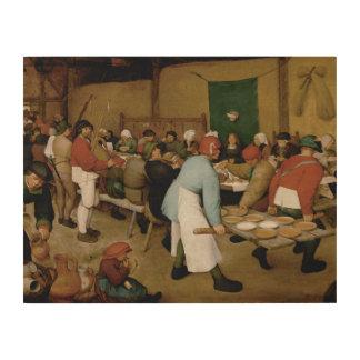 Pieter Bruegel das Älteste - ländliche Hochzeit Holzleinwand