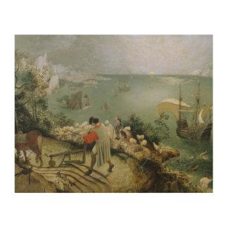 Pieter Bruegel das Älteste - Landschaftsfall von Holzdruck