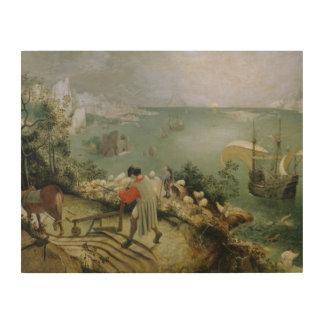 Pieter Bruegel das Älteste - Landschaftsfall von Holzleinwand