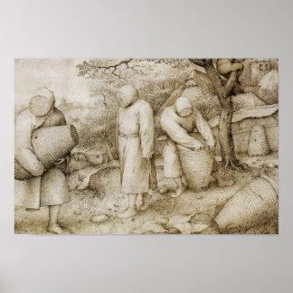 Pieter Bruegel der Älteste - die Imker Poster