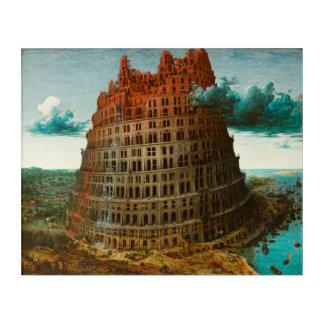 PIETER BRUEGEL - Der kleine Turm von Babel 1563 Acryl Wandkunst