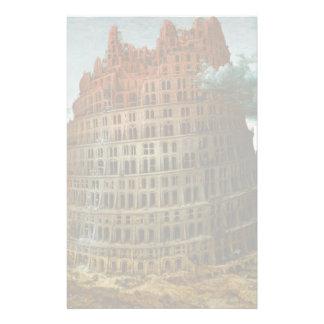 PIETER BRUEGEL - Der kleine Turm von Babel 1563 Briefpapier