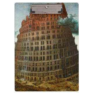 PIETER BRUEGEL - Der kleine Turm von Babel 1563 Klemmbrett