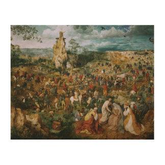 Pieter Bruegel die Ältester-D Prozession zum Holzleinwand