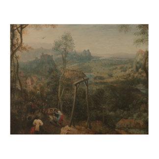 Pieter Bruegel die Ältestes-D Elster auf den Holzdruck