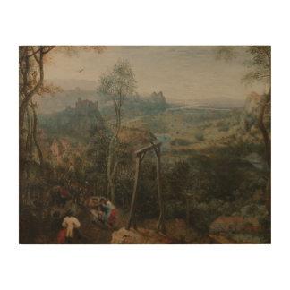 Pieter Bruegel die Ältestes-D Elster auf den Holzwanddeko