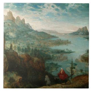 Pieter Bruegel - gestalten Sie mit Flug in Ägypten Fliese