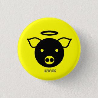 PiGcasso Kunst-Ausstellung - Engel Piggy Runder Button 3,2 Cm