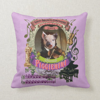 Piggienini niedliches Schwein-Tierkomponist Kissen