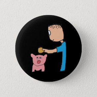 Piggy Bank Runder Button 5,1 Cm