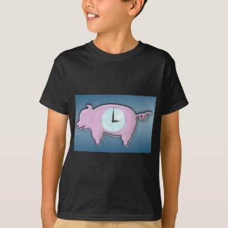 Piggy Bank-Uhr - T - Shirt
