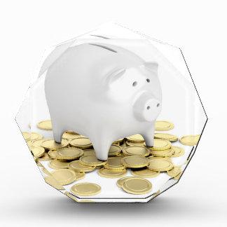 Piggy Bank und Münzen Acryl Auszeichnung