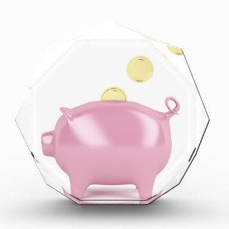 Piggy Bank und Münzen Auszeichnung