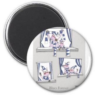 piggy Blues für immer Runder Magnet 5,7 Cm
