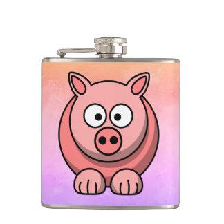 Piggy Ferkel-kleines rosa Schwein-niedlicher Flachmann