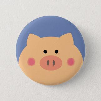 Piggy Gesicht Runder Button 5,1 Cm
