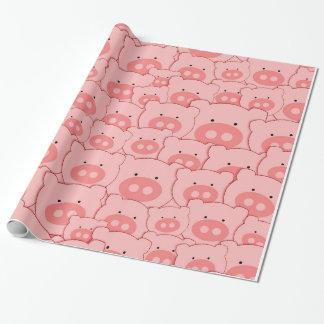 Piggy Gesichts-Spaß Geschenkpapier