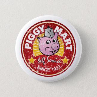 Piggy Handelszentrum-Vintages Runder Button 5,1 Cm