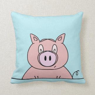 Piggy nahe hohe Cartoon-Entwurfs-Grafik Kissen