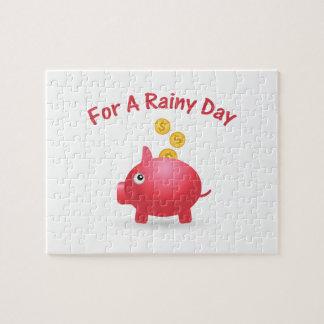 Piggy Retten für einen regnerischen Tag Puzzle