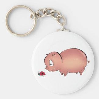 Piggy wenig folgt Marienkäfer Schlüsselanhänger