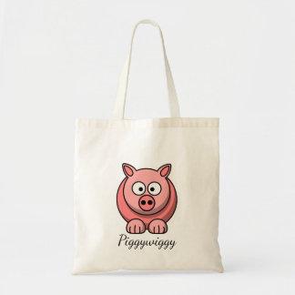 PiggyWiggy wenig Pigling niedliches Pastellferkel Tragetasche
