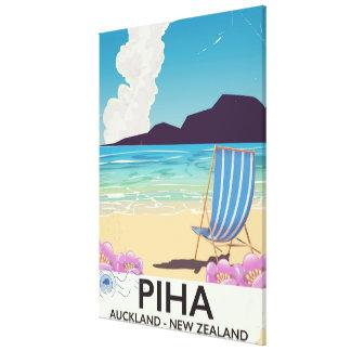 Piha Neuseeland Vintages Reiseplakat Leinwanddruck
