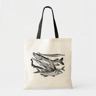 Pike-Familie - Fisch Budget Stoffbeutel