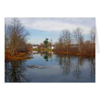 Pike-Fluss Grußkarte
