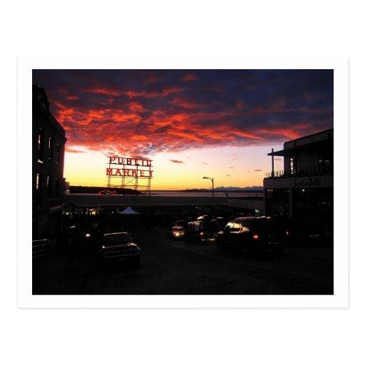 Pike-Markt, Seattle Postkarte