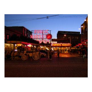Pike-Markt Seattle, USA Postkarte